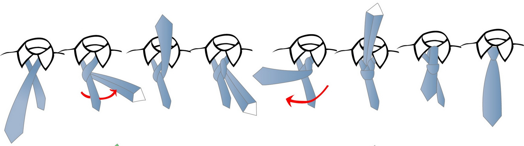 Half Windsor Tie Knot Large Pictures
